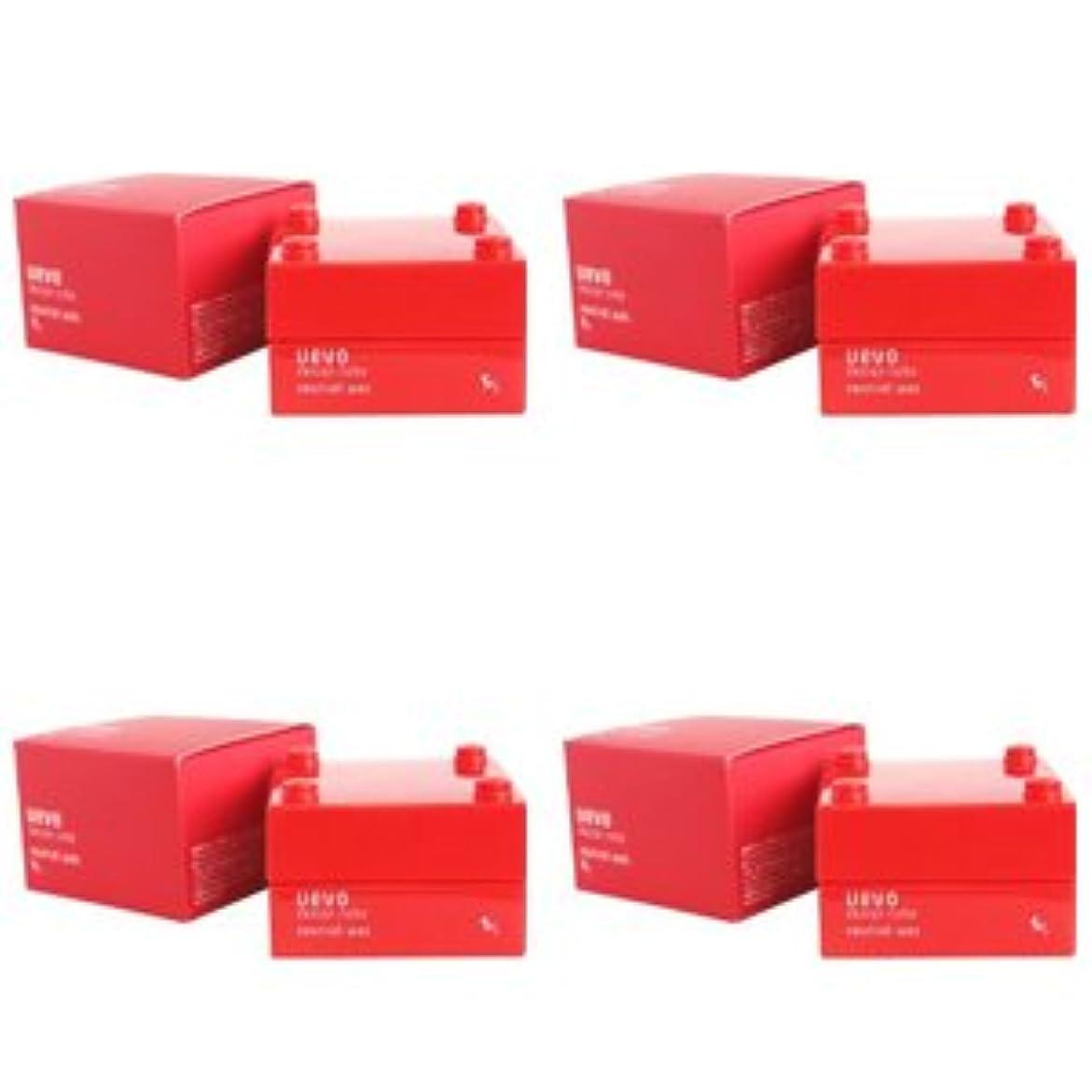 腹左目指す【X4個セット】 デミ ウェーボ デザインキューブ ニュートラルワックス 30g neutral wax DEMI uevo design cube
