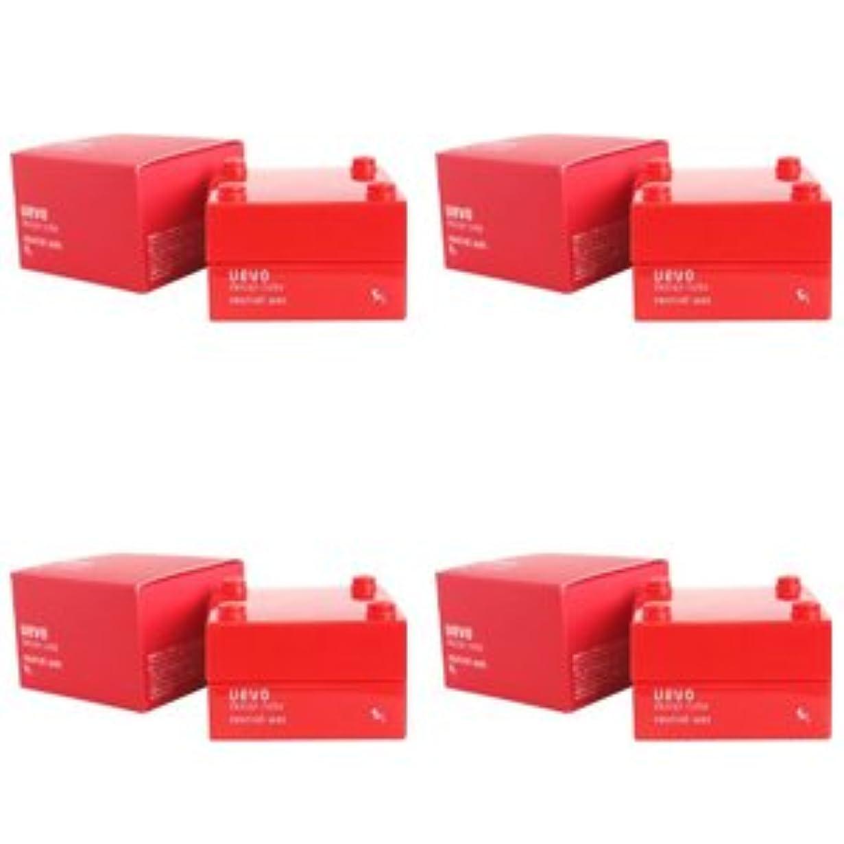 ニュージーランド委任する韓国【X4個セット】 デミ ウェーボ デザインキューブ ニュートラルワックス 30g neutral wax DEMI uevo design cube