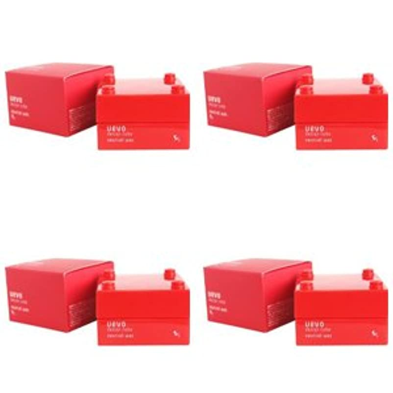 才能広々とした誰でも【X4個セット】 デミ ウェーボ デザインキューブ ニュートラルワックス 30g neutral wax DEMI uevo design cube
