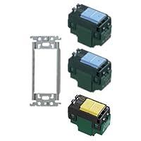 wt3700-126 パナソニック コスモシリーズワイド21 配線器具 スイッチ金属取付枠 (WT3700)スイッチセット 125