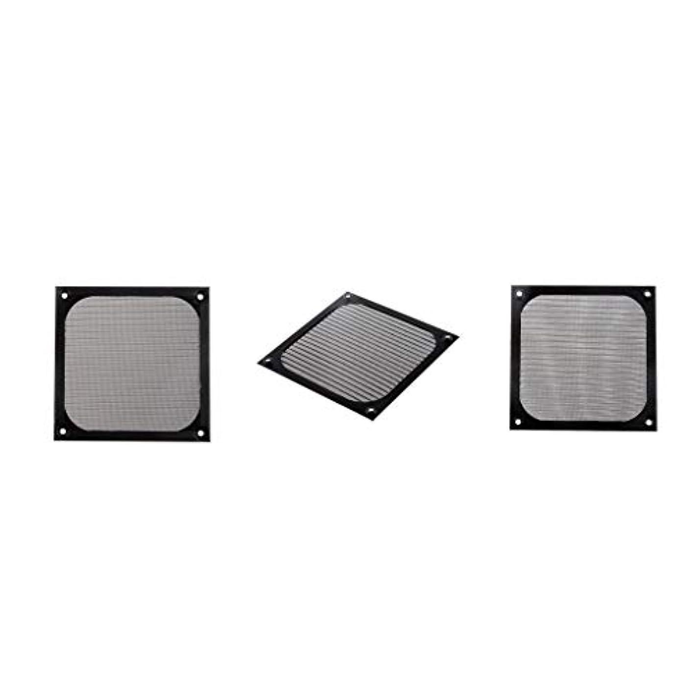 クリケット喜ぶモーターD DOLITY 3ピース/個 120mm 防塵フィルター ガードグリル プロテクター カバー PCコンピューター