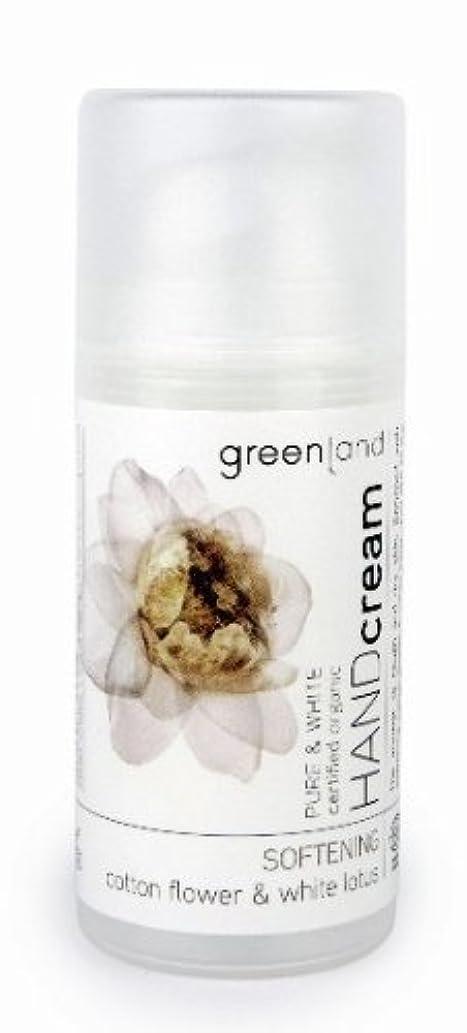 ピザ国際通行料金グリーンランド(greenland)ハンドクリーム コットンフラワー&ホワイトロータス  100ml(手肌用保湿 ポンプタイプ 洗練されたやわらかく優しい香りは癒されたいときに)