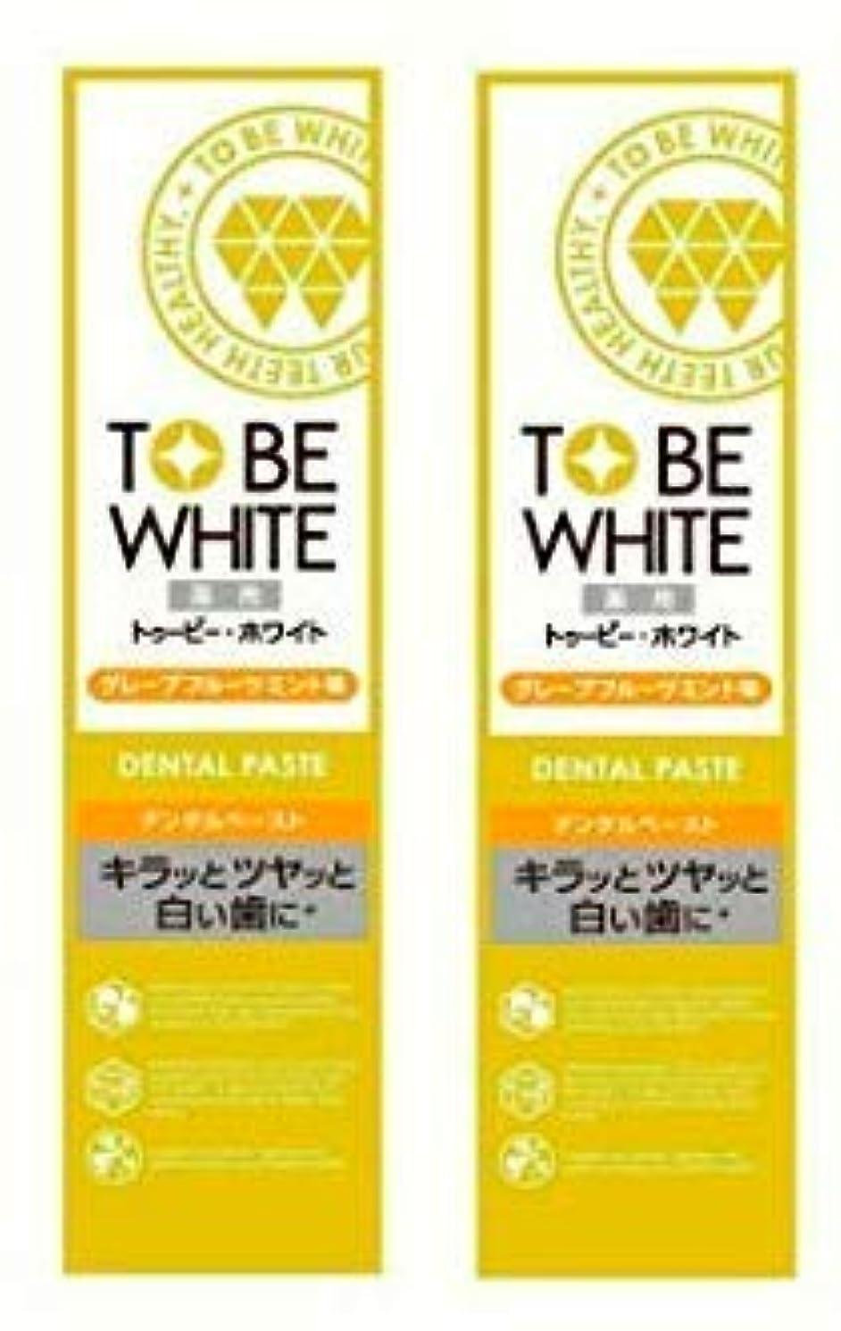 実験をする殺します美容師【お買い得】トゥービー?ホワイト 薬用 ホワイトニング ハミガキ粉 グレープフルーツミント 味 60g×2個セット