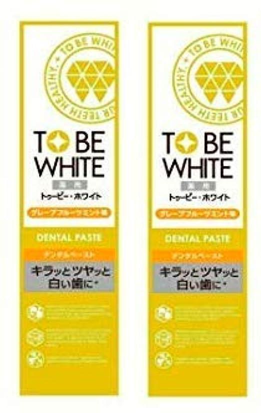 形式フリース堤防【お買い得】トゥービー?ホワイト 薬用 ホワイトニング ハミガキ粉 グレープフルーツミント 味 60g×2個セット