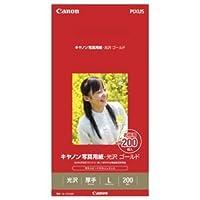 (まとめ) キヤノン Canon 写真用紙・光沢 ゴールド 印画紙タイプ GL-101L200 L判 2310B002 1箱(200枚) 【×3セット】