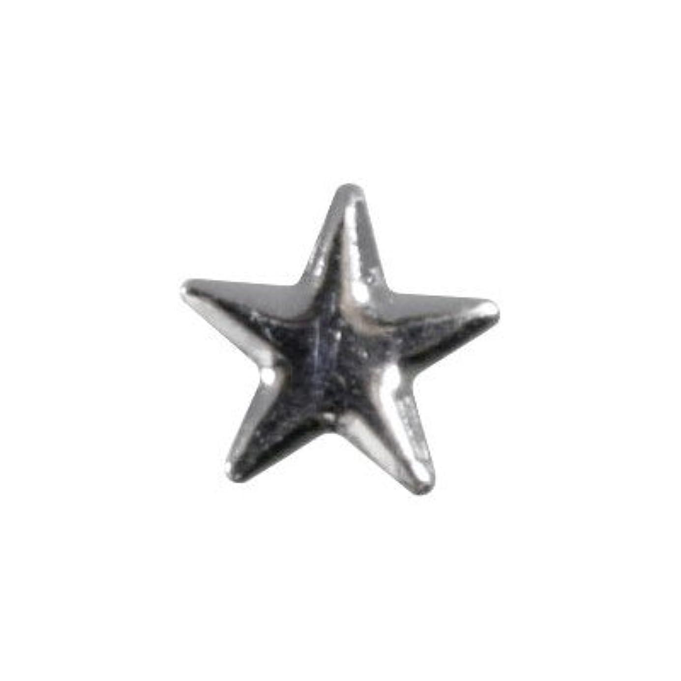 緊張ログ薄いピアドラ スタッズ メタルスター 5mm 30P シルバー