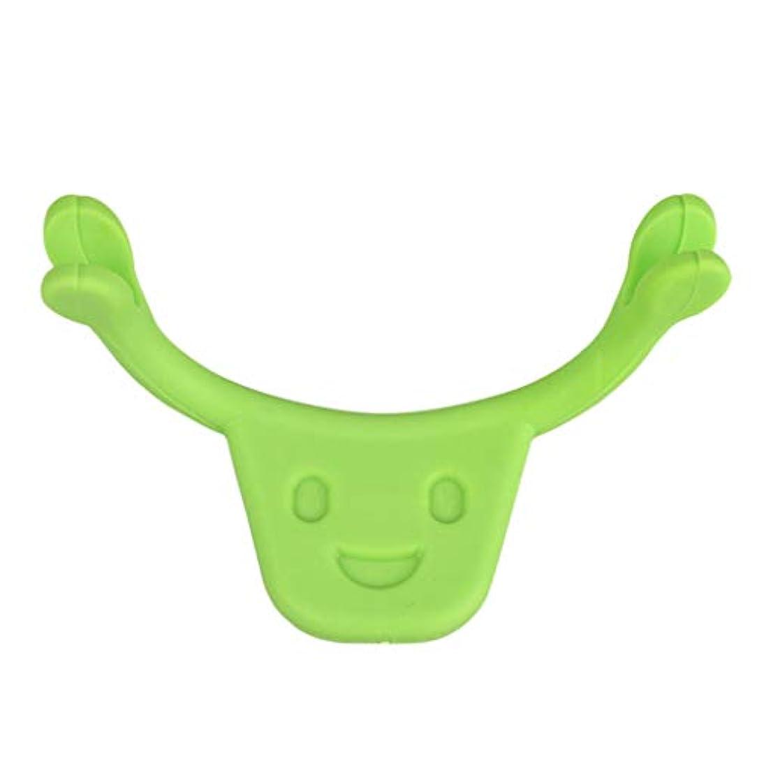 手を差し伸べる吐くジュースF Fityle 表情筋 トレーニング 小顔 ストレッチ 口角を上げるグッズ 美顔 顔痩せ 二重 あご 消す 全2色 - 緑