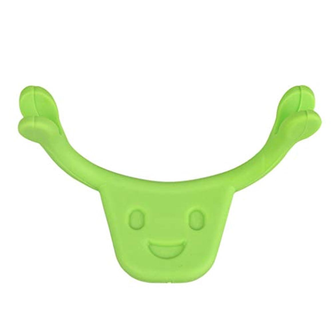 美人泥だらけ誕生日表情筋 トレーニング 小顔 ストレッチ 笑顔 トレーニング器具 フェイスエクササイズ ツール 全2色 - 緑