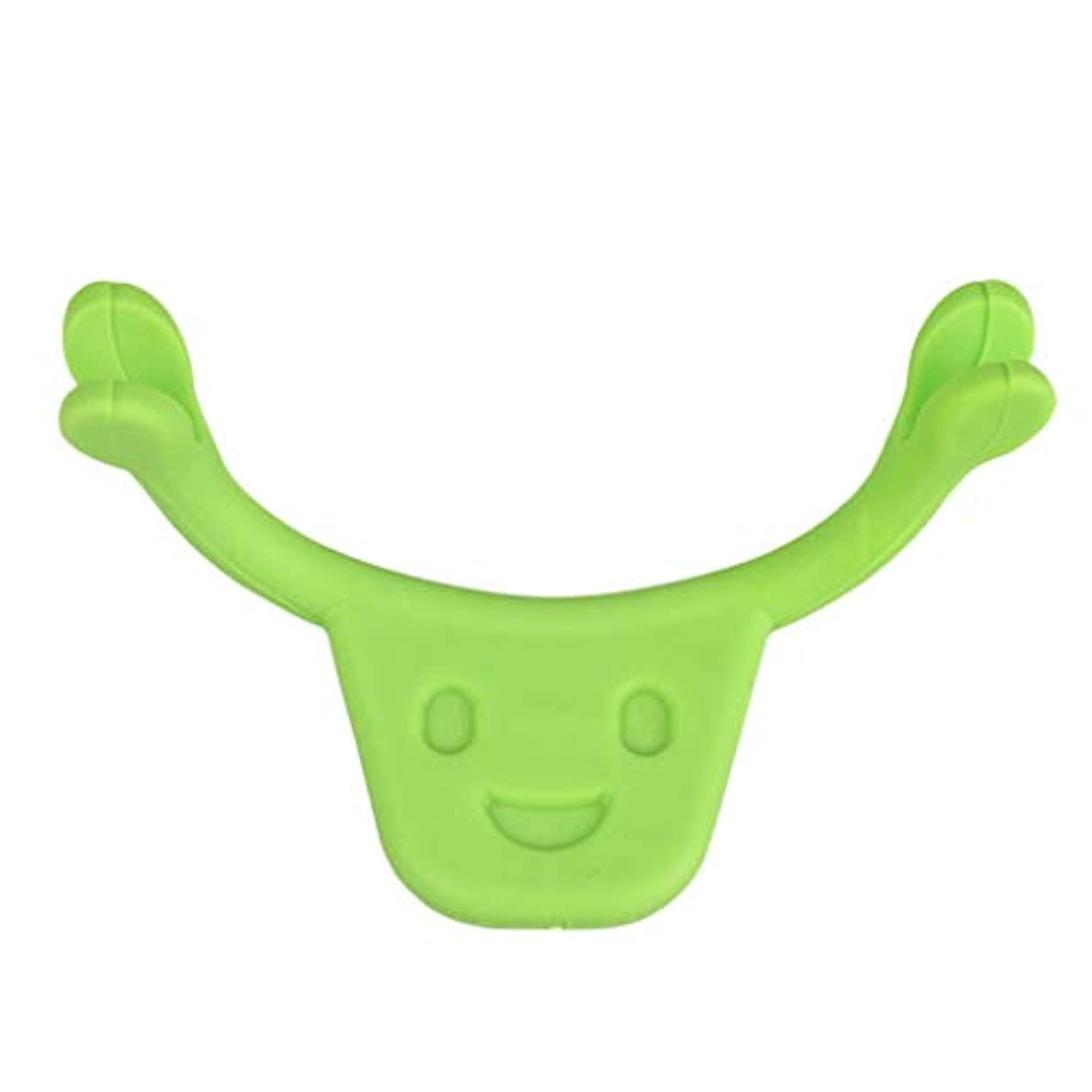 レタッチ学校の先生責F Fityle 表情筋 トレーニング 小顔 ストレッチ 口角を上げるグッズ 美顔 顔痩せ 二重 あご 消す 全2色 - 緑