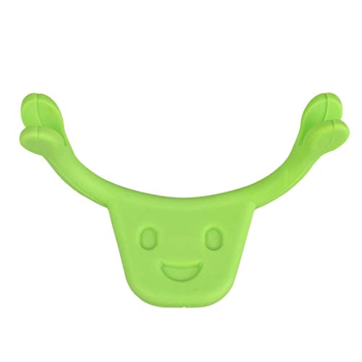 注釈ファイバ保守的F Fityle 表情筋 トレーニング 小顔 ストレッチ 口角を上げるグッズ 美顔 顔痩せ 二重 あご 消す 全2色 - 緑