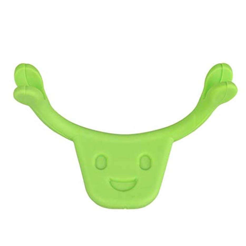 それぞれ適応する真空F Fityle 表情筋 トレーニング 小顔 ストレッチ 口角を上げるグッズ 美顔 顔痩せ 二重 あご 消す 全2色 - 緑