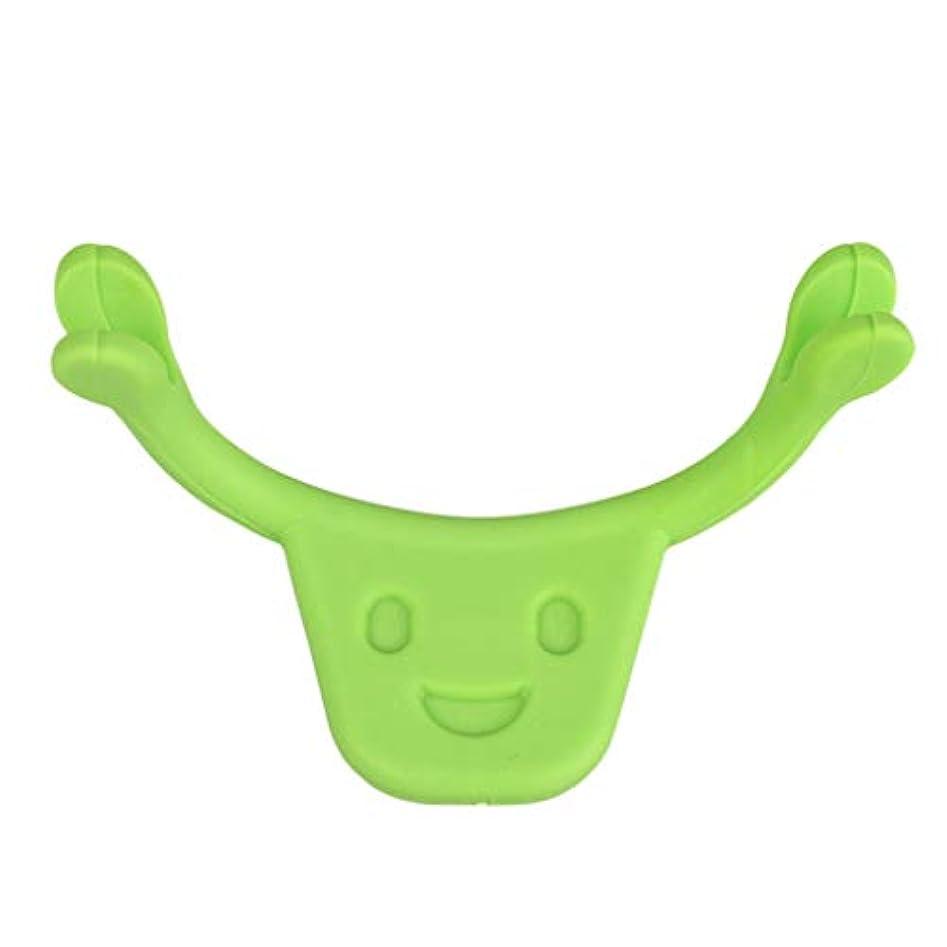 ブリードロマンス一瞬表情筋 トレーニング 小顔 ストレッチ 笑顔 トレーニング器具 フェイスエクササイズ ツール 全2色 - 緑