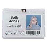 avt75456–Advantus 75456IDバッジホルダークリップ付き