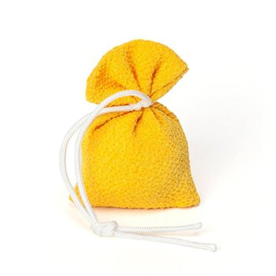 可能帽子召喚する松栄堂 匂い袋 誰が袖 上品(無地) 1個入 (色をお選びください) (黄)