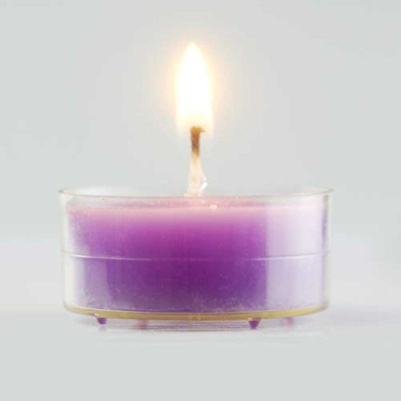 穀物砂のマラソン環境に優しいキャンドル きれいな無煙大豆ワックス色味茶ワックス48ピース4時間燃える時間白いキャンドルライト用家の装飾、クリスマス休暇、結婚披露宴の装飾 実用的な無煙キャンドル (Color : Purple)