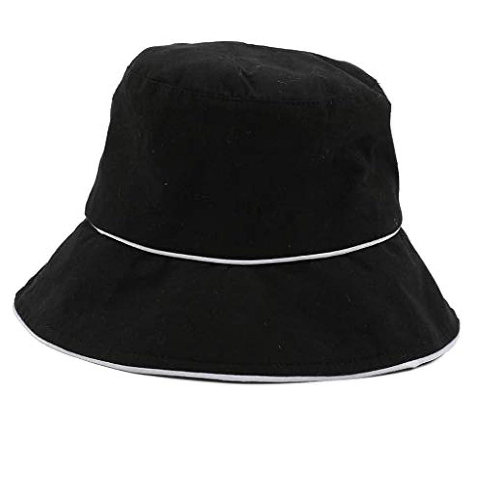 徹底社会科評価可能ROSE ROMAN - 帽子 レディース uv 漁師の帽子 99%uvカット 小顔効果抜群 帽子 サイズ調整 テープ キャップ 黒 漁師帽 おしゃれ 可愛い ハット 折りたたみ 紫外線対策 ファッション ワイルド カジュアル...
