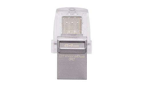 キングストン Kingston USBメモリ 64GB USB3.0/3.1 DataTraveler microDuo 3C DTDUO3C/64GB 5年保証