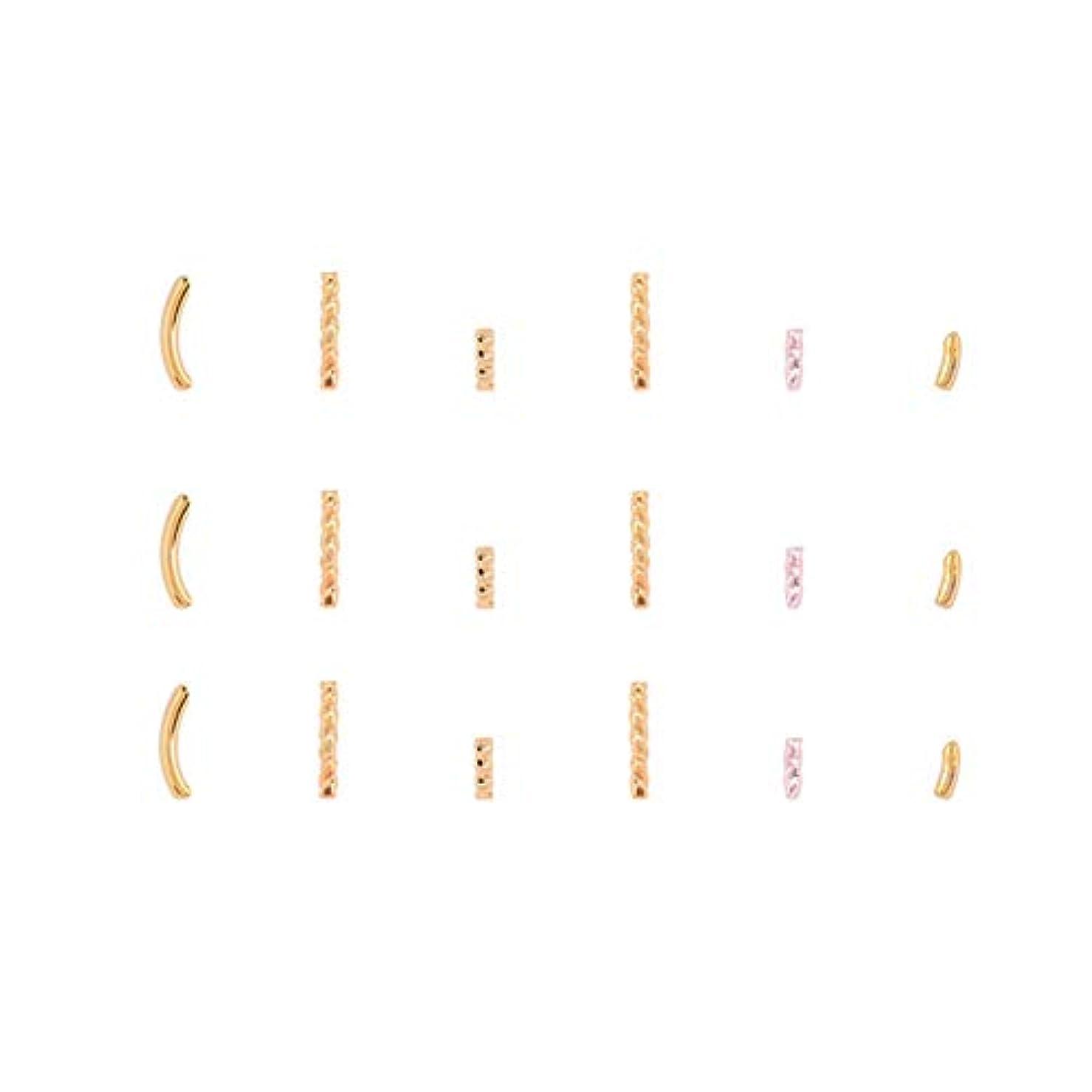 アマゾンジャングルいわゆる土地メタルビーズ半分スレッドリベット爪の補修金メッキ金属ステープル(パラ05)
