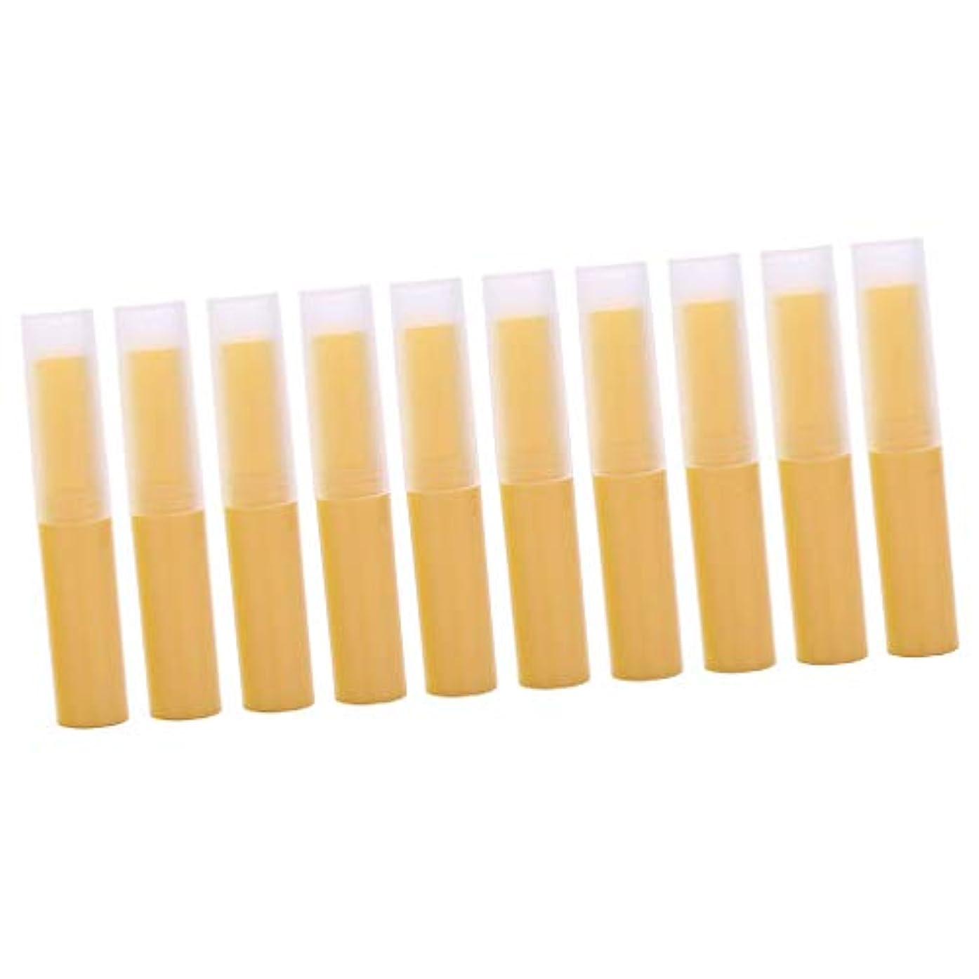 不透明な放牧するまばたきToygogo リップスティック リップクリーム容器 DIY 化粧道具 詰替え容器 10個 全7色 - イエロー