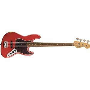 Fender エレキベース Road Worn® '60s Jazz Bass®, Pau Ferro Fingerboard, Fiesta Red