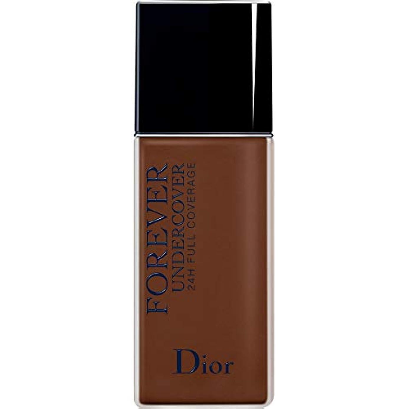 れんが圧縮ボクシング[Dior ] ディオールディオールスキン永遠アンダーカバーフルカバーの基礎40ミリリットル080 - 黒檀 - DIOR Diorskin Forever Undercover Full Coverage Foundation...