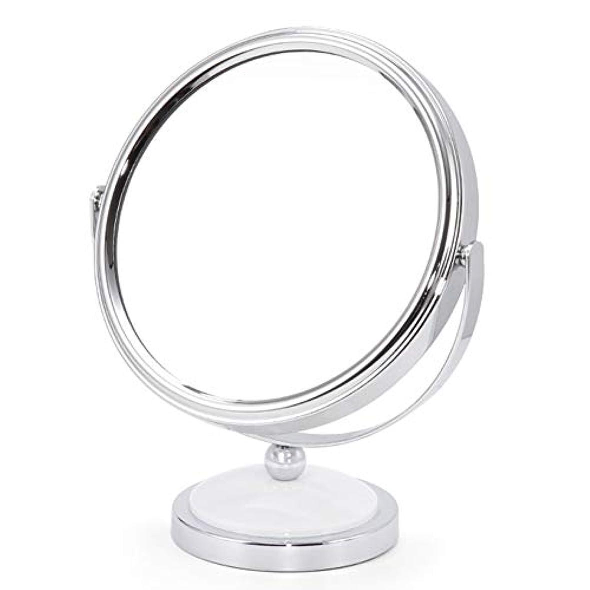 放出南極シリーズミラー 鏡 化粧鏡 デスクトッププリンセスミラー拡大鏡両面ドレッシングテーブル360度回転 ZHANGAIZHEN (色 : 白, サイズ さいず : Large)