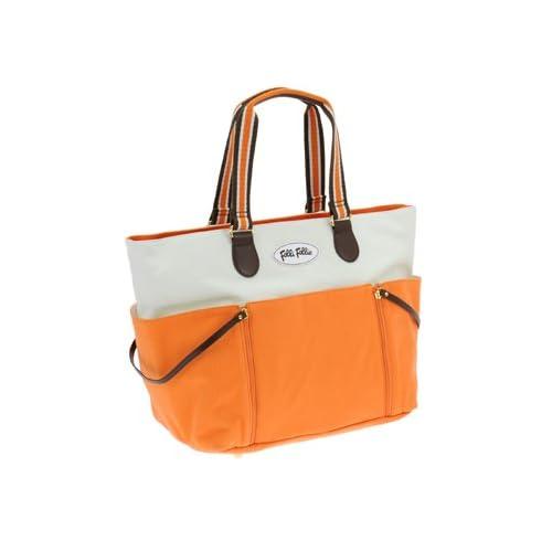 Folli Follie(フォリフォリ) バッグ トートバッグ ハンドバッグ ナイロンキャンバス ホワイト×オレンジ SB1C055WWO WH OR【 並行輸入品 】