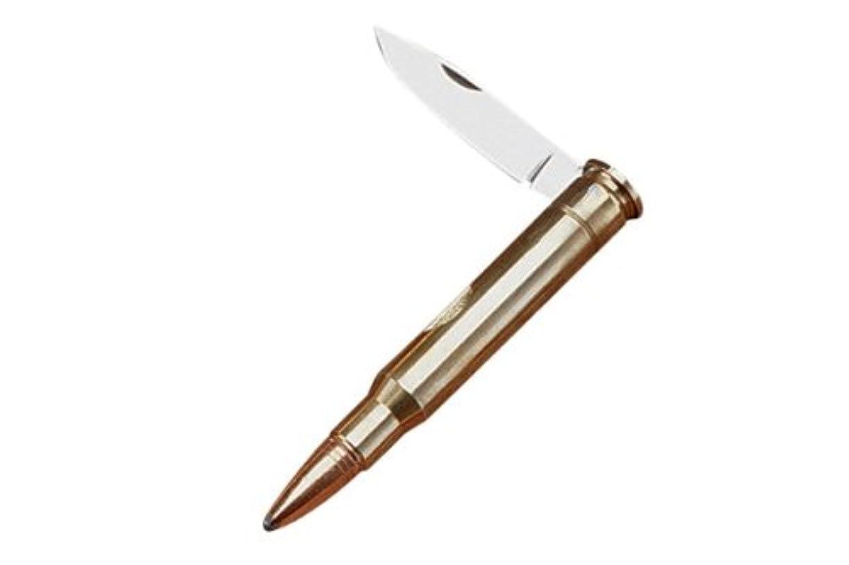 緯度緩めるマインド折りたたみナイフ ライフル弾型 30-06
