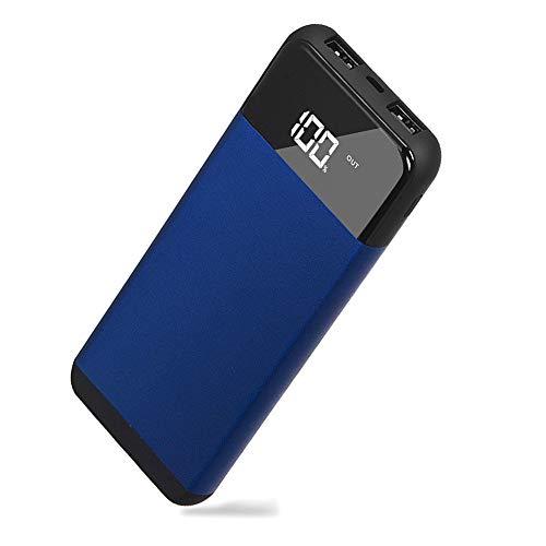 KNPWIEE モバイルバッテリー 大容量 薄型リチウムイオンポリマ-ポー...