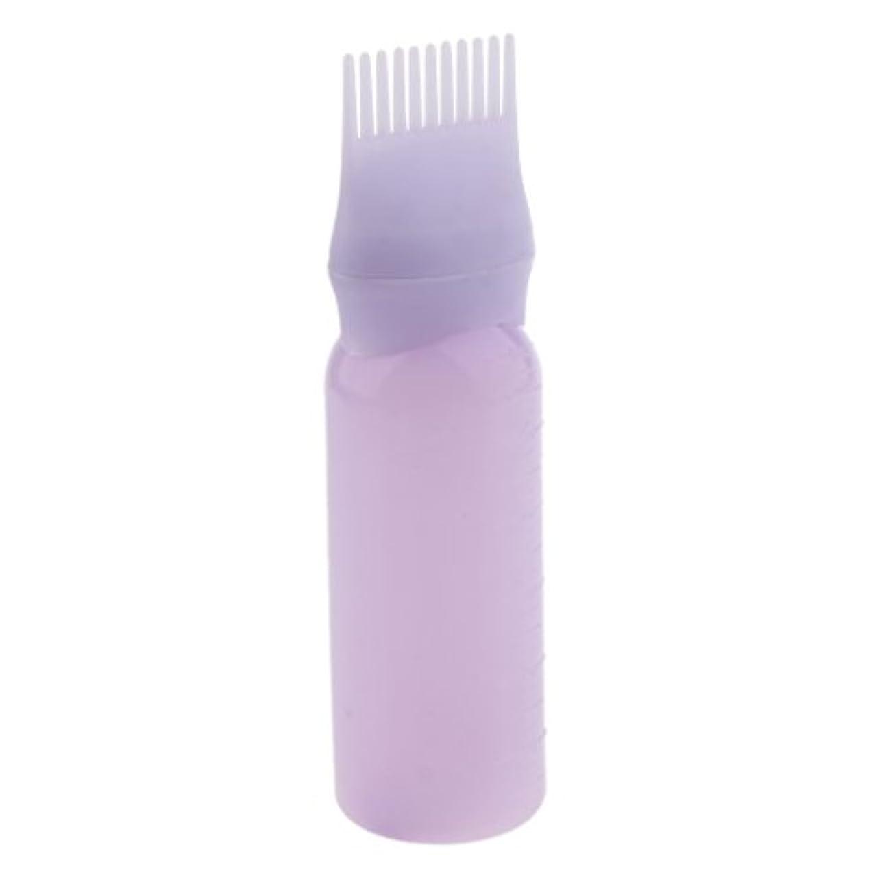 ディレクター魅惑する完璧なルートコーム ヘアダイボトルアプリケーター サロン ヘアカラー ディスペンサーブラシ 染料ボトル 染色櫛 全2色 - 紫