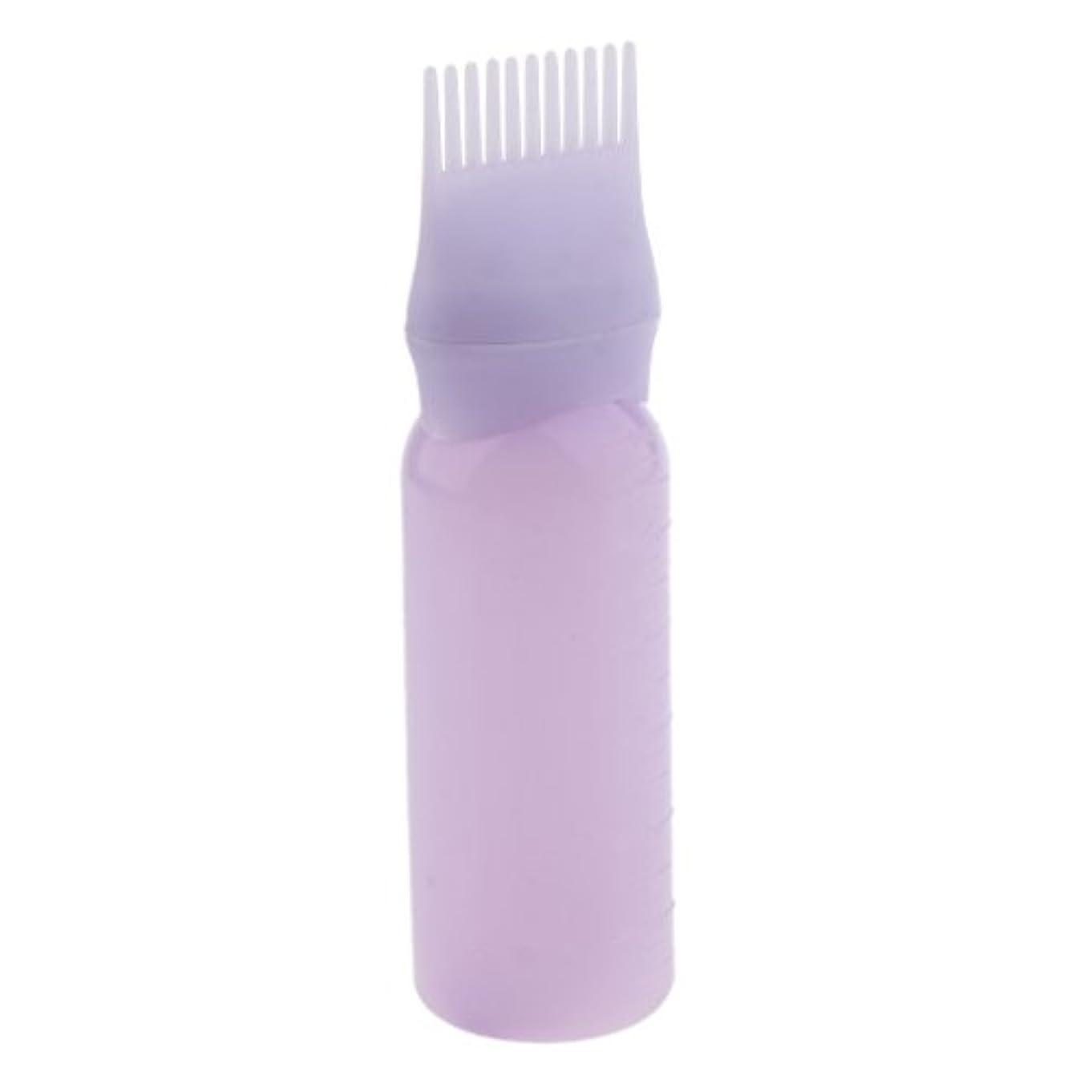 動的葬儀素子Baosity ルートコーム ヘアダイボトルアプリケーター サロン ヘアカラー ディスペンサーブラシ 染料ボトル 染色櫛 全2色 - 紫
