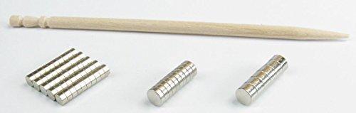 [해외]네오디뮴 네오디뮴 자석 최강 N50 2mm × 1mm 50 개 1 개로 A4 복사 용지 3 장 + 덤 N50φ3x1mm10 개 + φ3x2mm5 개 전체 크기 총액 최저 송료 100 엔/Neodymium neodymium magnet Strongest N50 2 mm × 1 mm 50 pieces 1 piece A4 copy paper 3 sh...