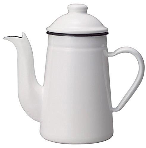 カリタ コーヒーポット ホーロー製 コーヒ-達人 ペリカン 1L ホワイト #52125