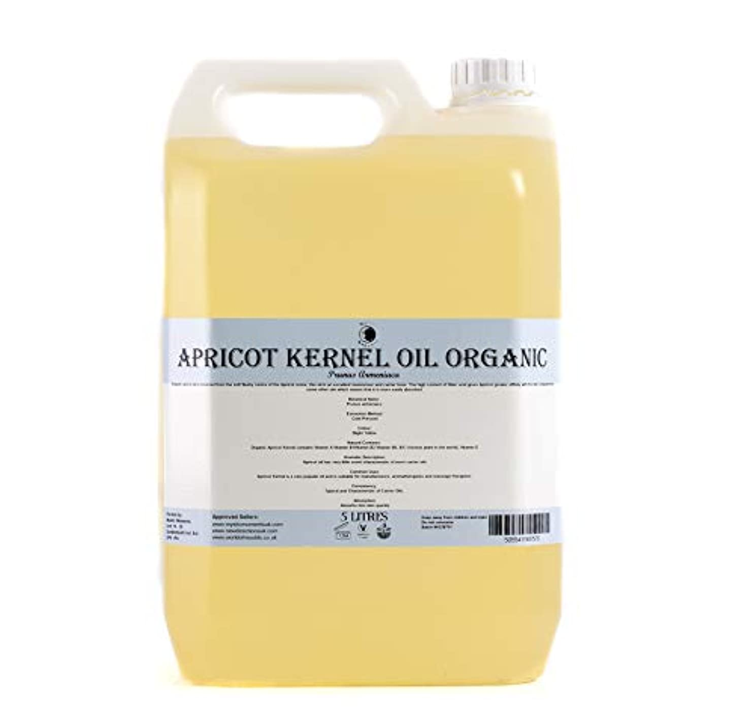 戦争新しさから聞くMystic Moments | Apricot Kernel Organic Carrier Oil - 5 Litres - 100% Pure