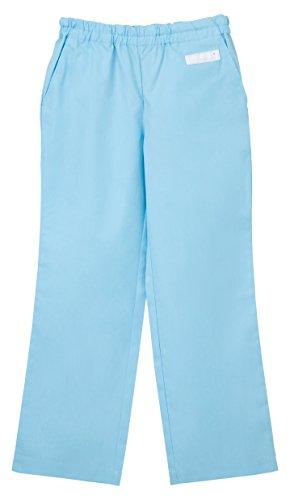 ナガイレーベン 男女兼用パンツ (スクラブパンツ) 医療白衣 ライトブルー S SL-5093
