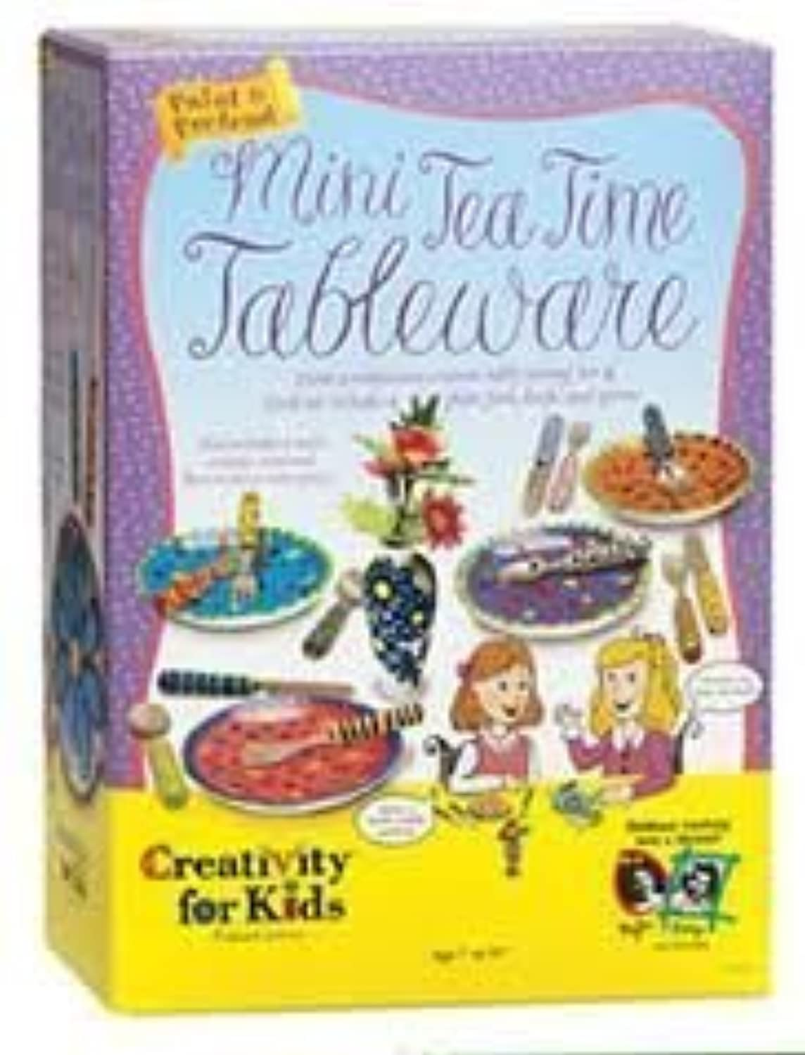 Creativity Forキッズペイント& Pretend Mini Tea Time Tablware
