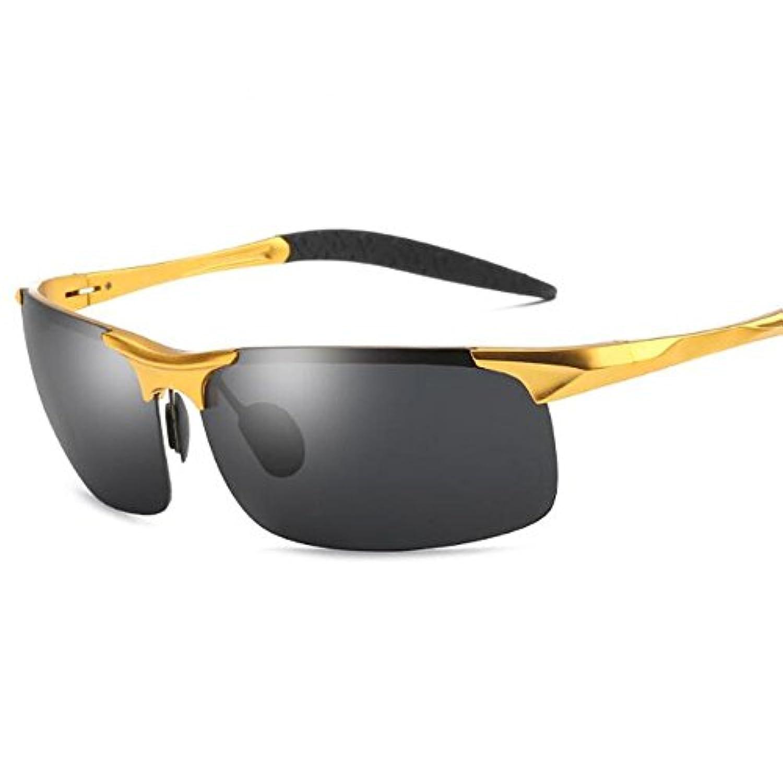 JL 偏光レンズ スポーツ サングラス 男女兼用 UV400 紫外線 運転 ジョギング 自転車/釣り/野球/テニス/スキー/ランニング/ゴルフ/ドライブ - アルミニウム?マグネシウム合金