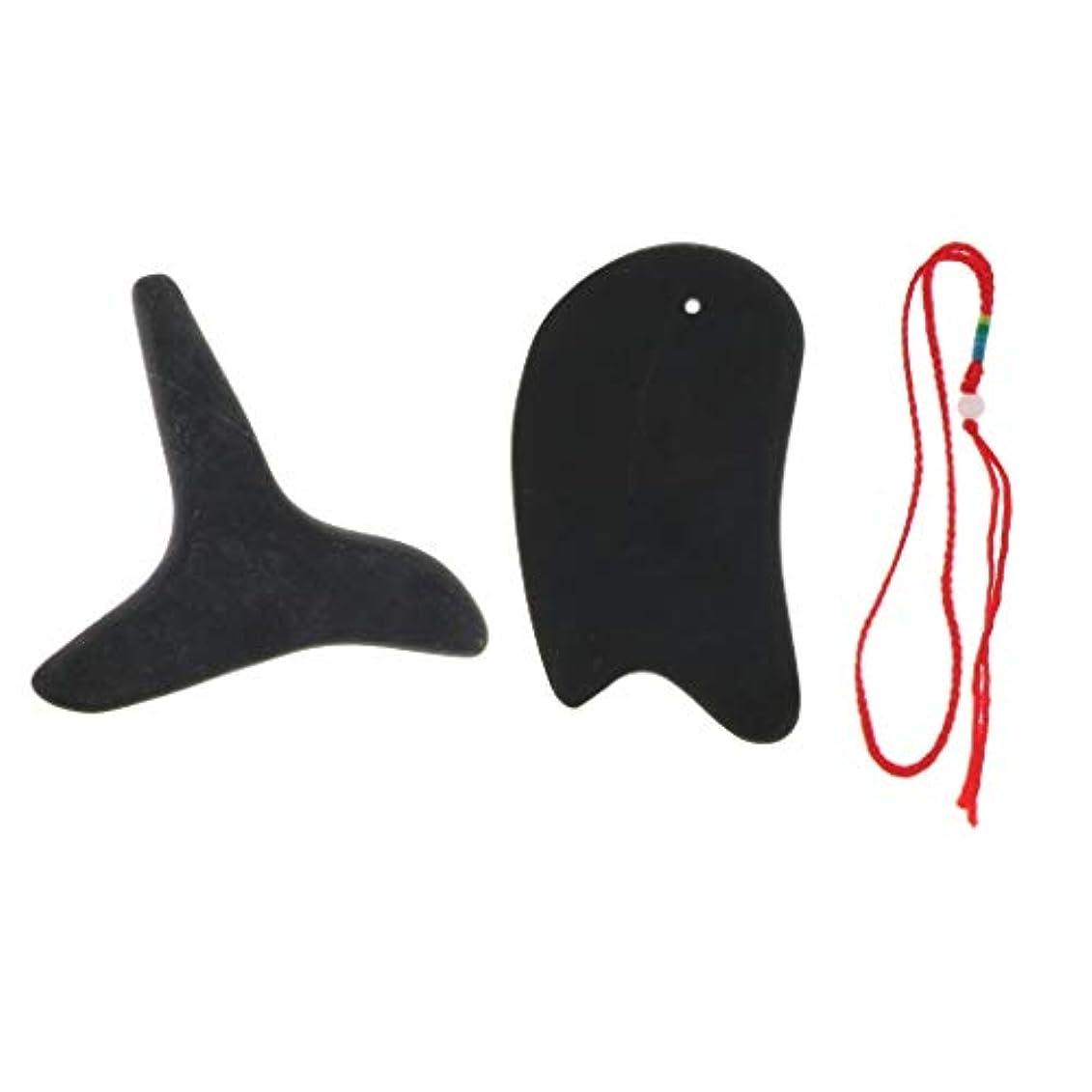 頭痛フェード土砂降りポータブル 軽量 かっさプレート 美顔 ボディ マッサージ 使いやすい 2個 快適 疲労緩解