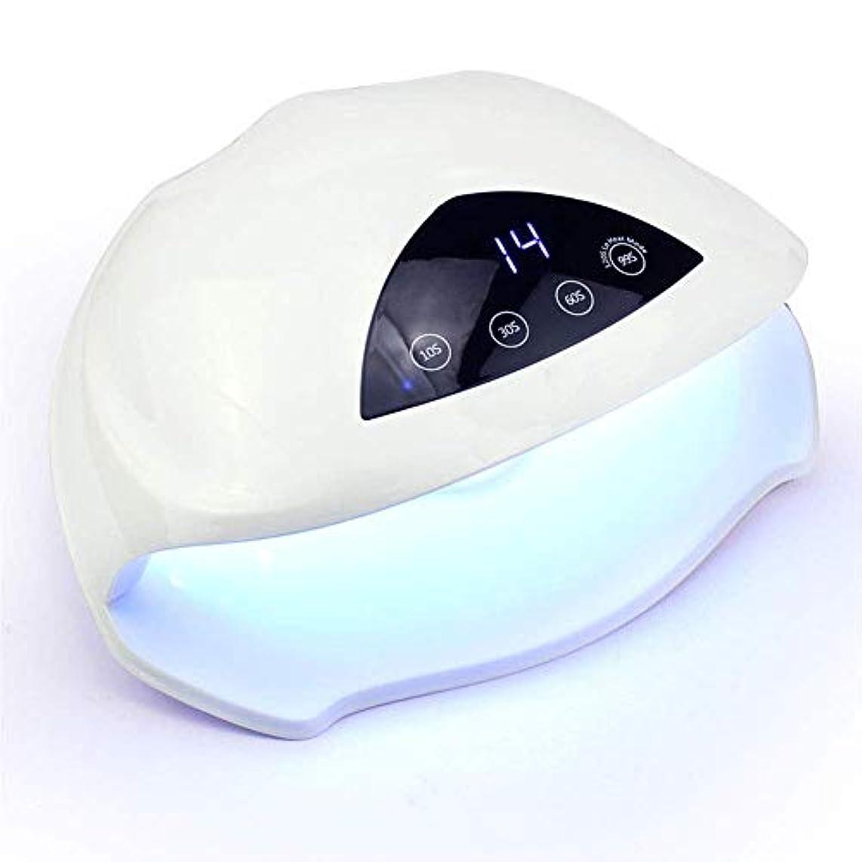 クリープ四分円盲信ネイルドライヤー用72ワットランプマニキュアジェルポリッシュデュアルハンドワニス光療法ランプ機用uv led機器