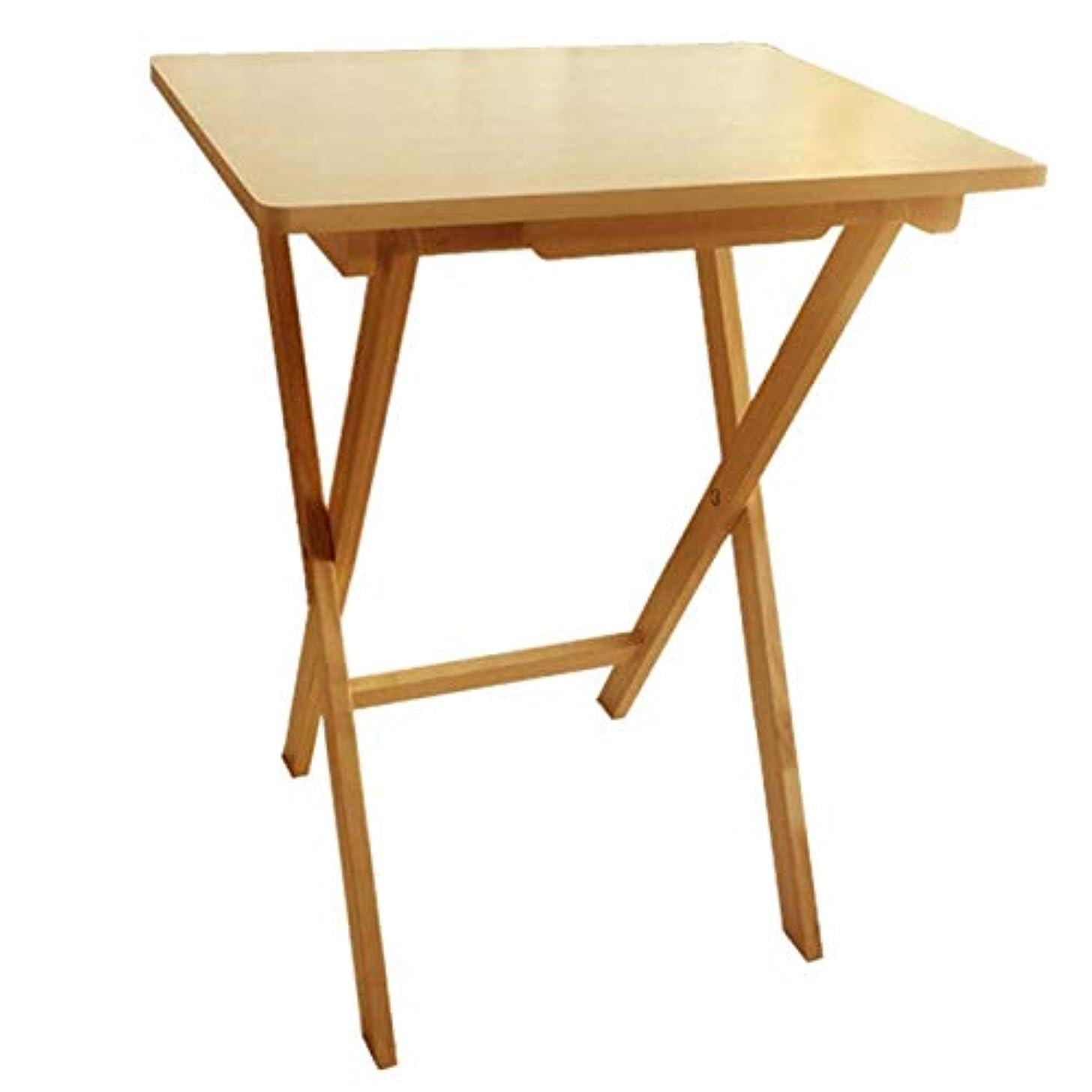 ビルマむしろ推進屋外折りたたみテーブル木製ポータブル折りたたみシンプルカジュアルピクニックテーブル屋内ダイニングテーブルコンピュータテーブルに適しガーデンガーデンカートラベル、ウッドカラー Carl Artbay