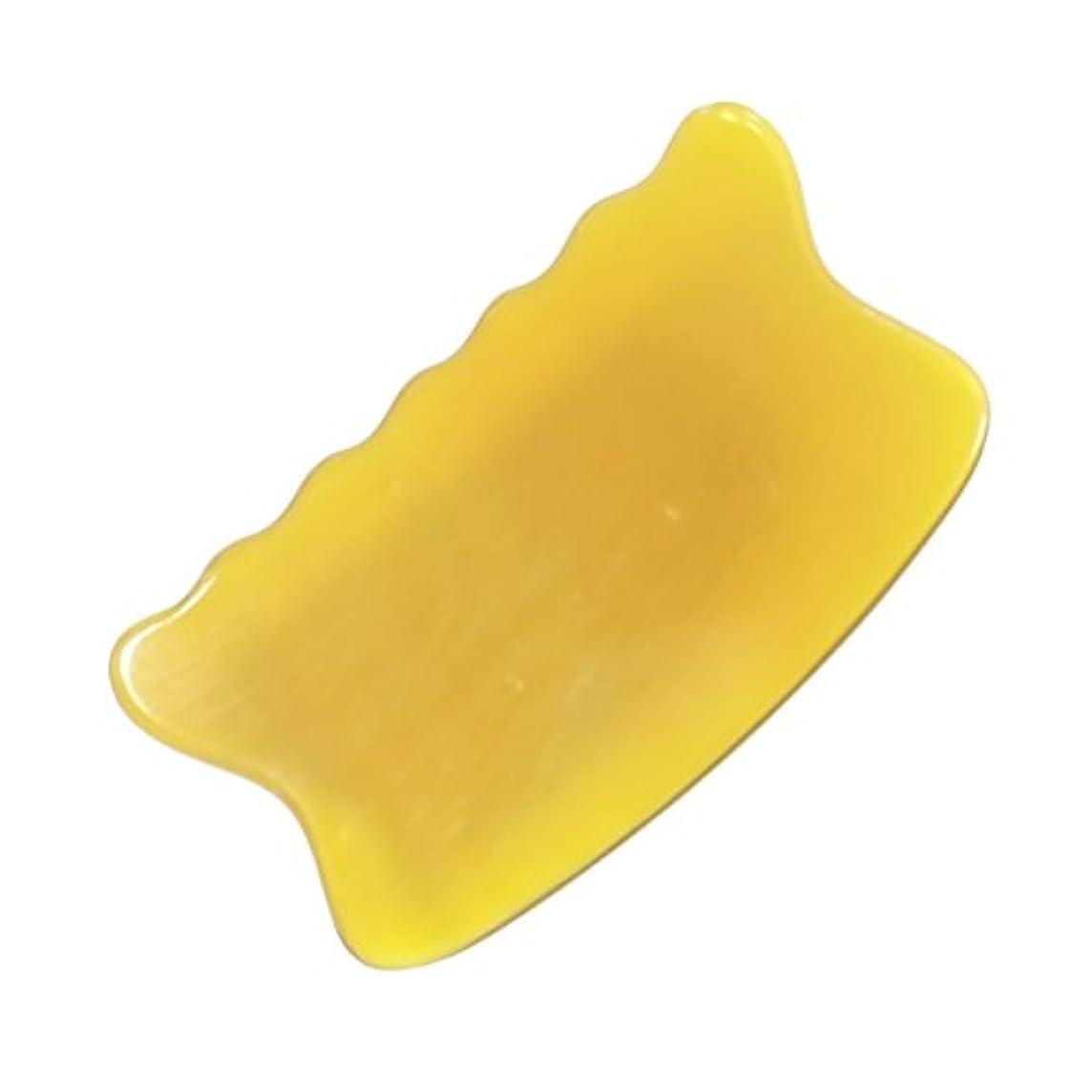 丁寧売上高モッキンバードかっさ プレート 希少66 黄水牛角 極美品 曲波型