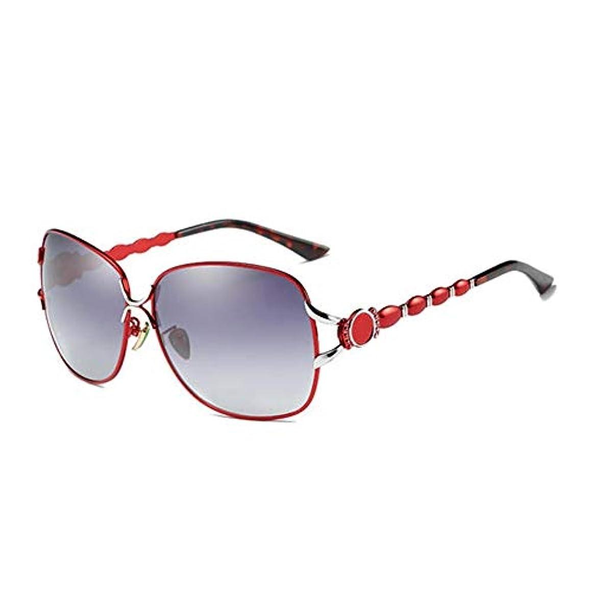 検索エンジン最適化十分コンベンションサングラス ブンテレンズサングラスPolarisierte Sonnenbrille FrauenアンチUV400アウトドアスポーツ UV保護 (色 : Red, Size : One size)