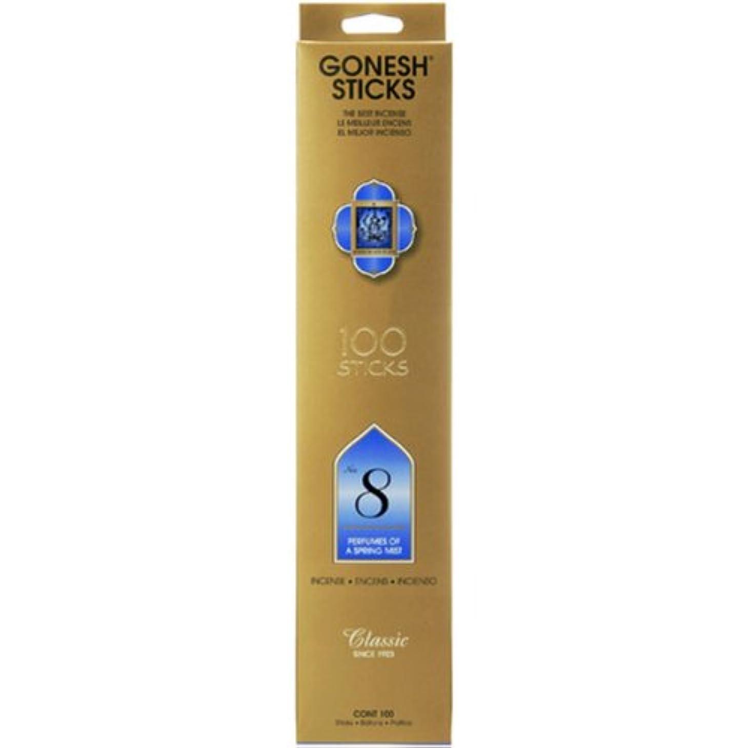 意味のある木材作動するGONESH/ガーネッシュ NO.8 スティックタイプ香100本入りボックス
