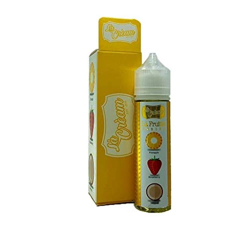 顎生息地志す大人気 La Cream - La Fruitte Series VAPE 電子タバコ リキッド マレーシア産 VapeHub.JPオリジナルセット (Tropical Jade, 60ml)