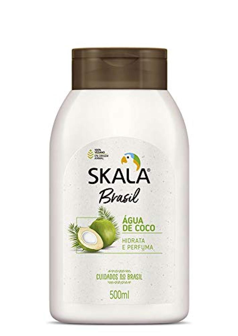 内側結晶葉Skala Brasil スカラブラジル 保湿ボディクリーム?ココナッツウォーター 500ml
