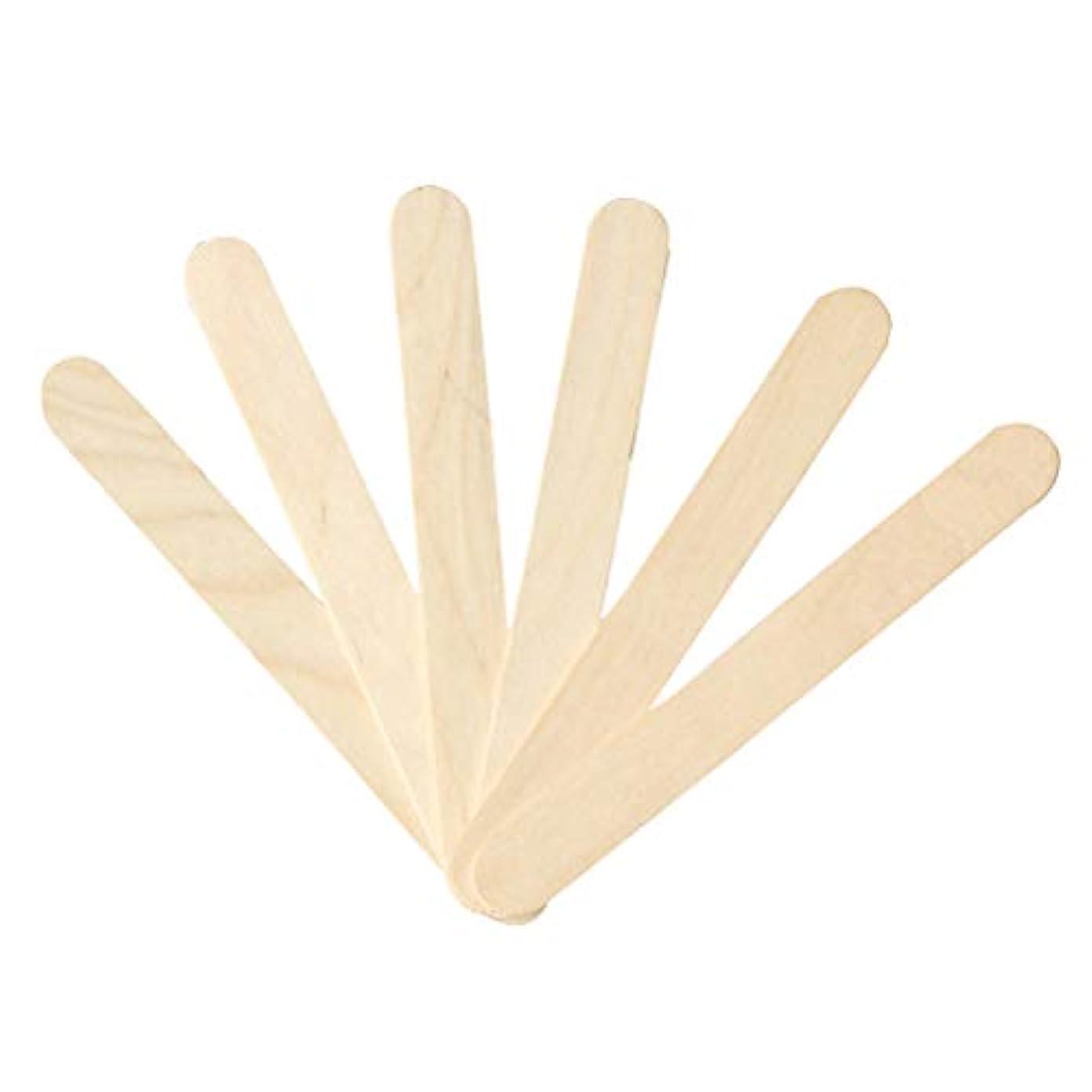 木製年次お肉Healifty 200PC舌圧子、軟膏剤を混合または攪拌するためのワックス剤塗布工芸品