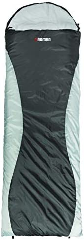 ROMAN Starlite +5°C Sleeping Bag Grey, Lightweight, Twin Zip can be Fully Opened, Cain Join Two Bags to Form a