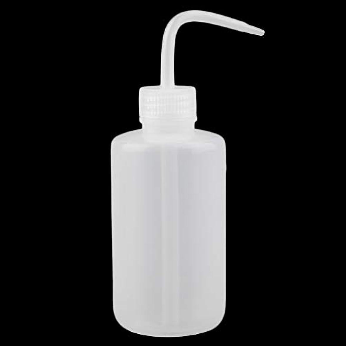行き当たりばったり批判不透明なプラスチックスクイズボトル250ミリリットルタトゥー洗浄ボトルユニバーサル非スプレー水ディフューザーポータブル美容アクセサリー(Color:white)