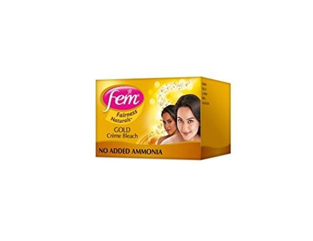 エレクトロニックユダヤ人標高2 FEM Herbal Gold Cream Bleach Wt Real Gold Golden Glow Natural Fairness 26g X 2 by Fem