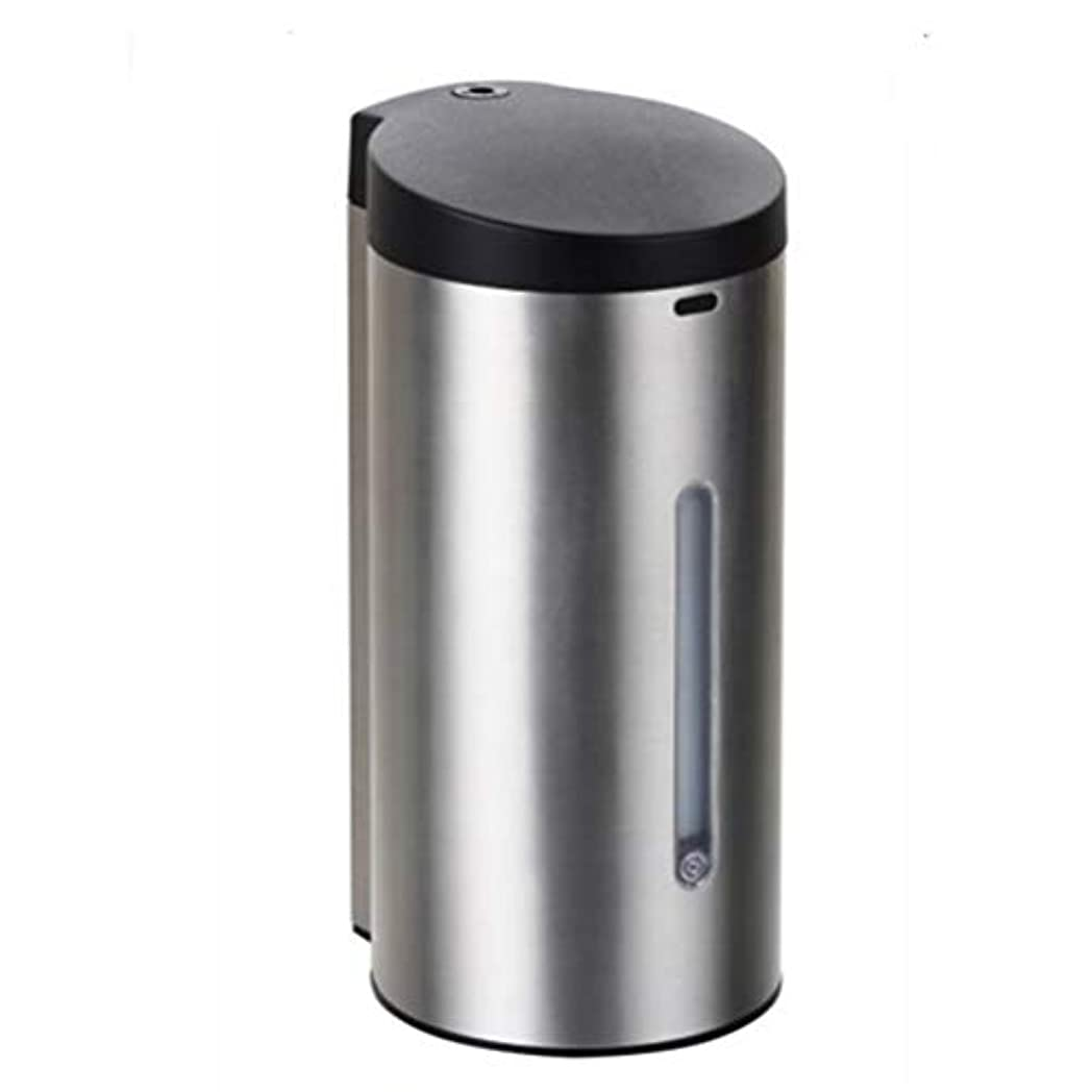 疾患現代の不安定な電池式 オートソープディスペンサー 赤外線センサーポンプソープディスペンサーステンレス 漏れ防止7段調整可 自動 ハンドソープ ータッチ 650ML 9Vバッテリー(6ノット* 1.5V)